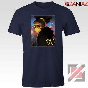 Black Power Navy Blue Tshirt