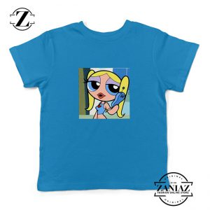 Bubbles Character Kids Blue Tshirt