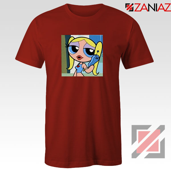 Bubbles Character Red Tshirt