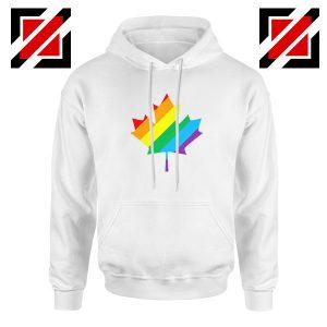 Canada Rainbow White Hoodie