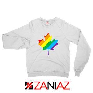 Canada Rainbow White Sweatshirt