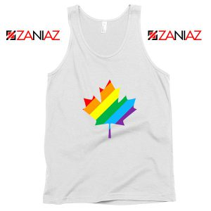 Canada Rainbow White Tank Top