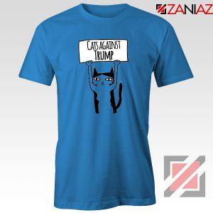 Cats Against Trump Blue Tshirt