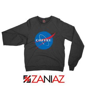 Coffee Nasa Black Sweatshirt