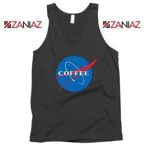 Coffee Nasa Black Tank Top