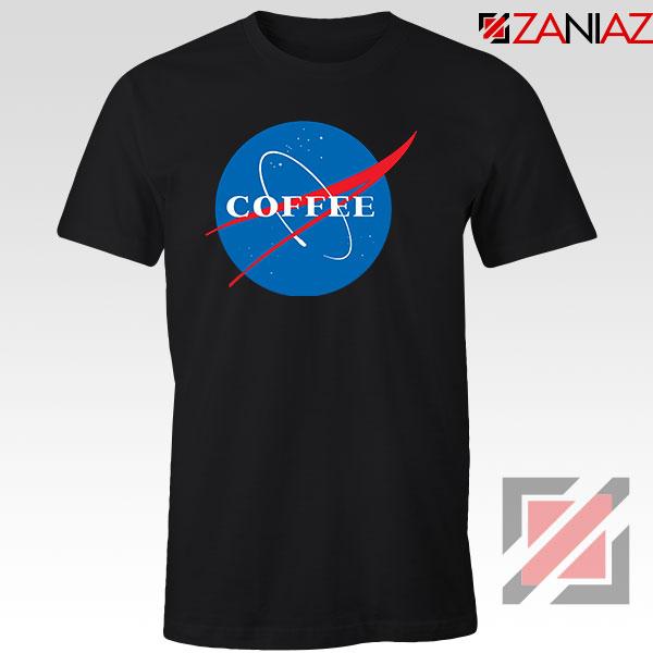 Coffee Nasa Black Tshirt