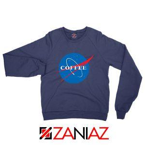 Coffee Nasa Navy Blue Sweatshirt