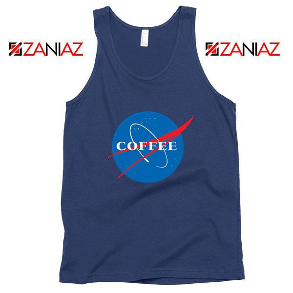 Coffee Nasa Navy Blue Tank Top