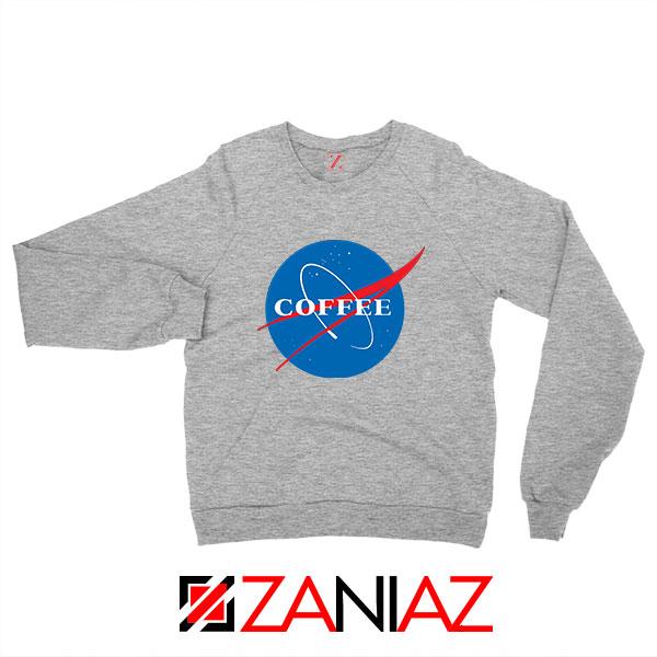Coffee Nasa Sport Grey Sweatshirt