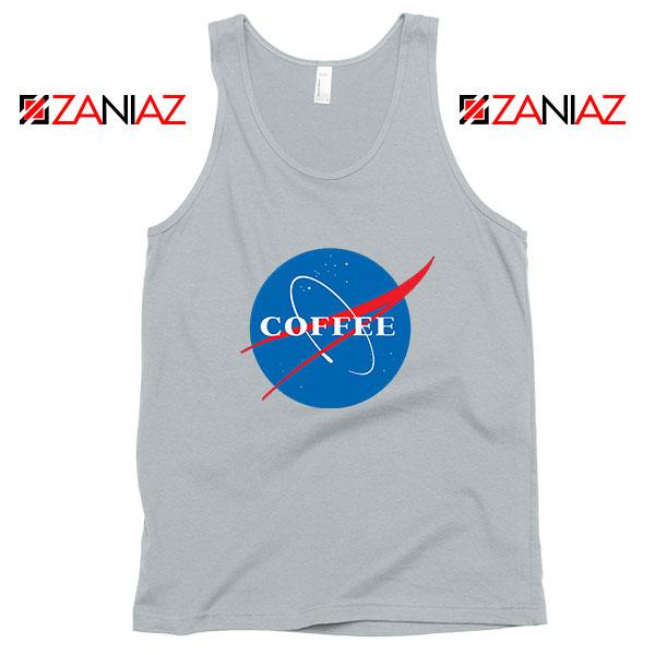 Coffee Nasa Sport Grey Tank Top
