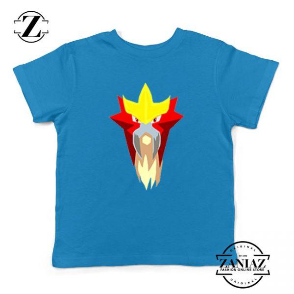 Entei Pokemon Kids Blue Tshirt