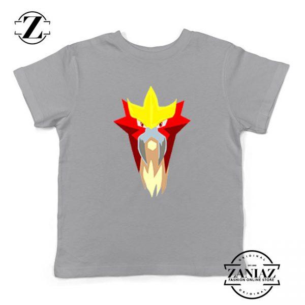 Entei Pokemon Kids Sport Grey Tshirt