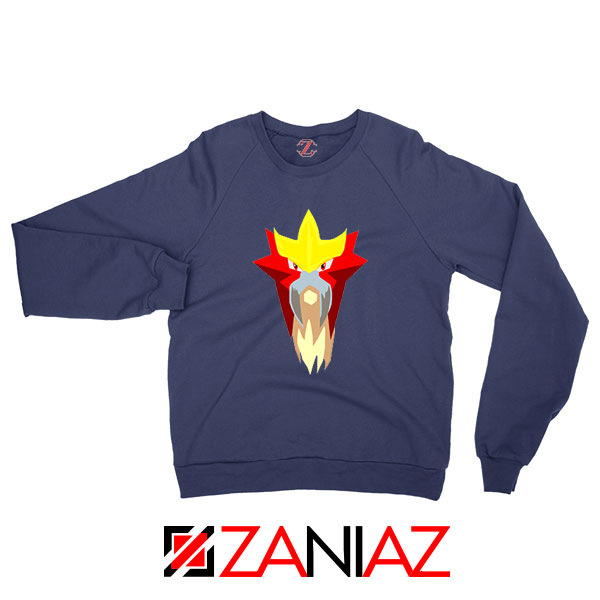 Entei Pokemon Navy Blue Sweatshirt