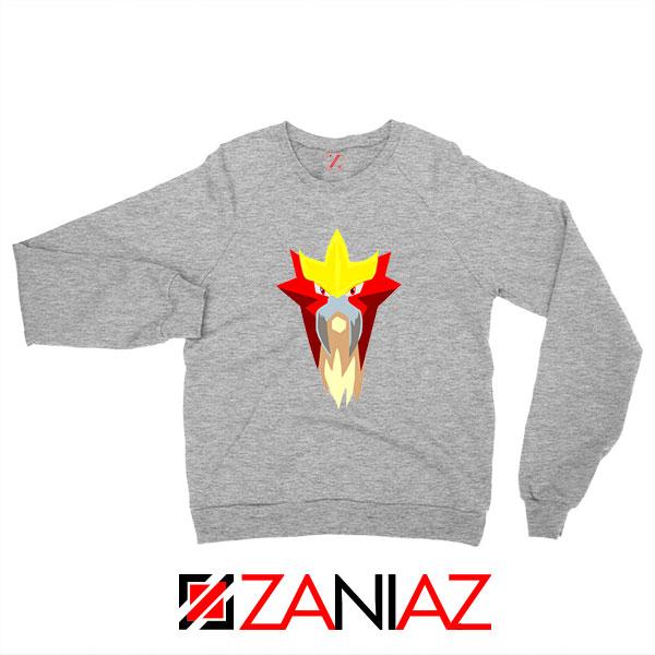 Entei Pokemon Sport Grey Sweatshirt