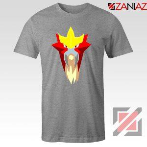 Entei Pokemon Sport Grey Tshirt