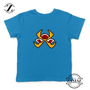 Fire Pokemon Type Kids Blue Tshirt