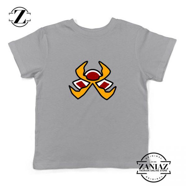 Fire Pokemon Type Kids Sport Grey Tshirt