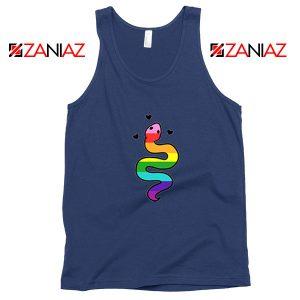Gay Pride Snake Navy Blue Tank Top