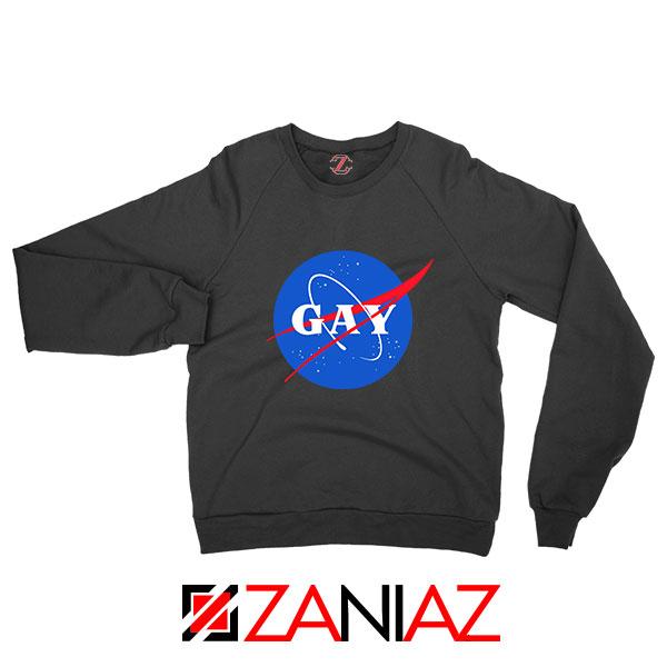Nasa Logo Gay Black Sweatshirt