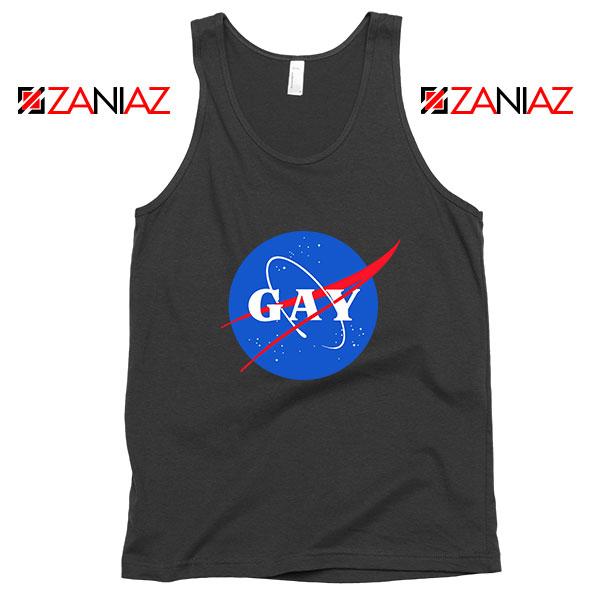 Nasa Logo Gay Black Tank Top