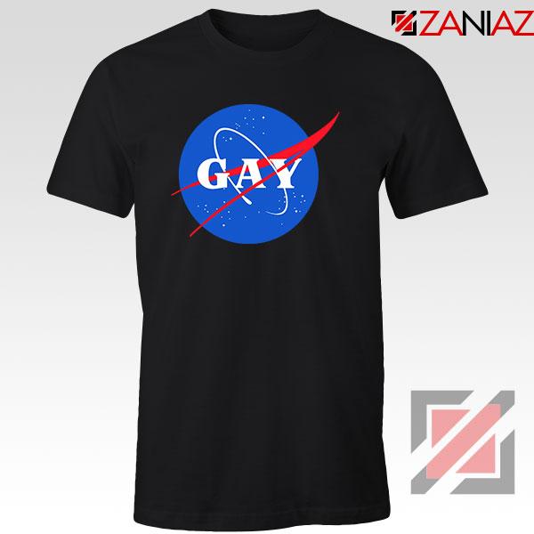 Nasa Logo Gay Black Tshirt