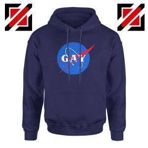 Nasa Logo Gay Navy Blue Hoodie