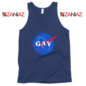 Nasa Logo Gay Navy Blue Tank Top