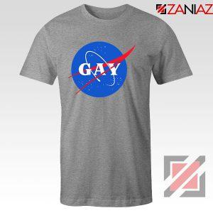 Nasa Logo Gay Sport Grey Tshirt
