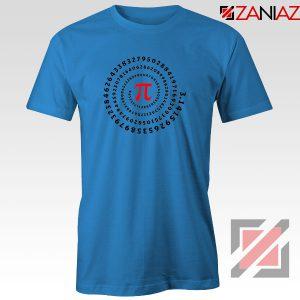 Pi Spiral Blue Tshirt