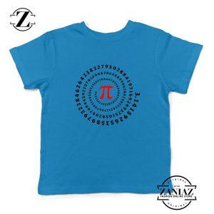 Pi Spiral Kids Blue Tshirt