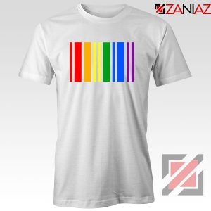 Rainbow Barcode White Tshirt