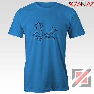 Rick and Morty Black and White BLue Tshirt