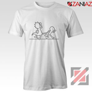 Rick and Morty Black and White Tshirt
