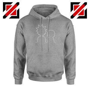 Rick and Morty Cartoon Sport Grey Hoodie