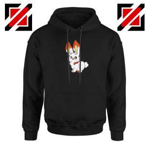 Scorbunny Rabbit Black Hoodie