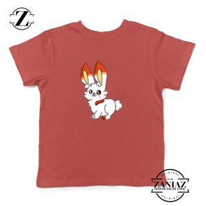 Scorbunny Rabbit Kids Red Tshirt