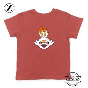 Scorbunny Rabbit Pokemon Kids Red Tshirt
