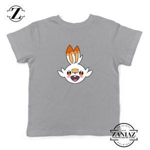 Scorbunny Rabbit Pokemon Kids Sport Grey Tshirt