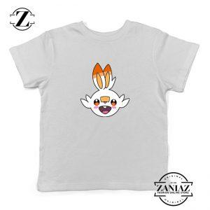 Scorbunny Rabbit Pokemon Kids Tshirt