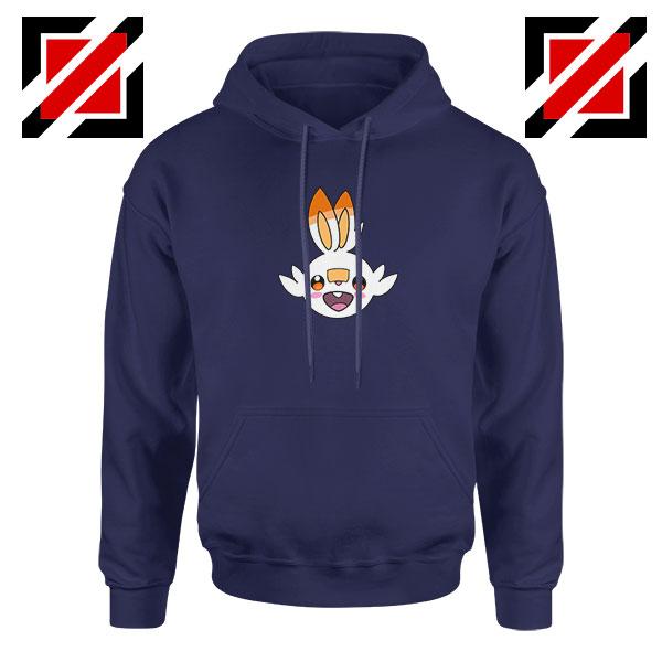 Scorbunny Rabbit Pokemon Navy Blue Hoodie