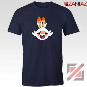 Scorbunny Rabbit Pokemon Navy Blue Tshirt