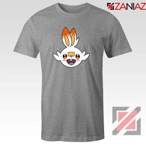 Scorbunny Rabbit Pokemon Sport Grey Tshirt