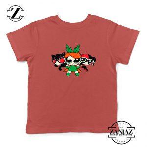 Supervillain Powerpuff Girls Kids Rred Tshirt
