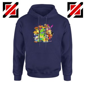 The Best 90s Cartoons Navy Blue Hoodie