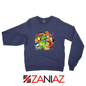 The Best 90s Cartoons Navy Blue Sweatshirt