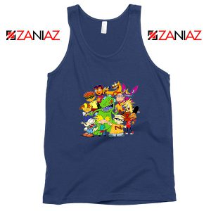 The Best 90s Cartoons Navy Blue Tank Top