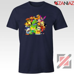 The Best 90s Cartoons Navy Blue Tshirt