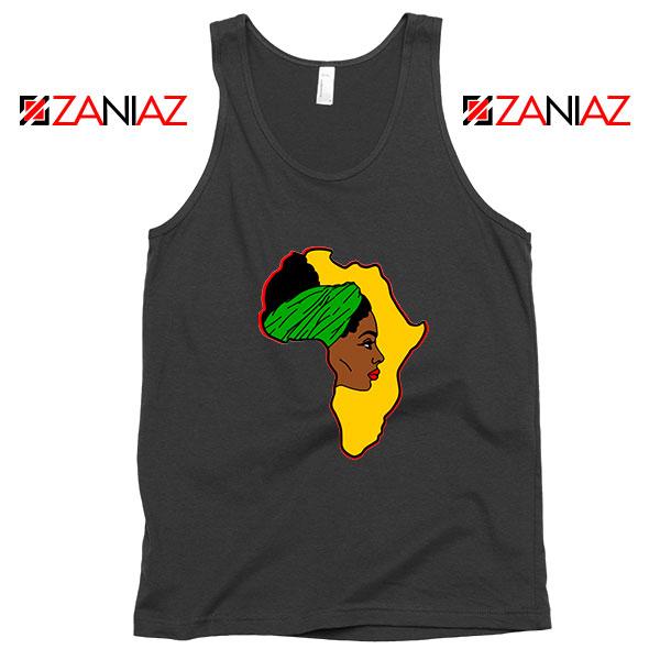 African American Women Black Tank Top