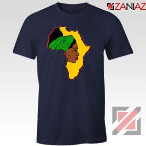 African American Women Navy Blue Tshirt