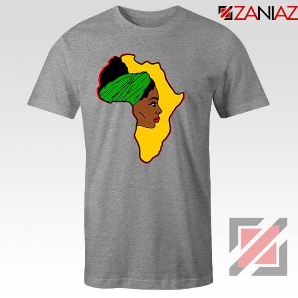 African American Women Sport Grey Tshirt
